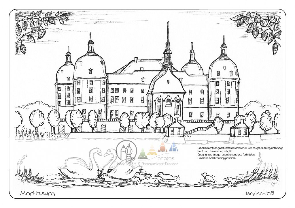 Postkarte A410 Moritzburg Schloss Peak Prints Peak Photos