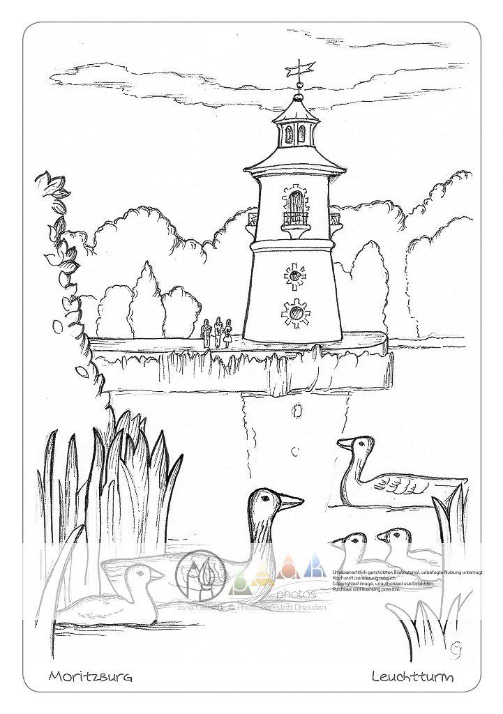 leuchtturm zum ausmalen  malvorlagen gratis