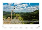 Kalender Traumlandschaft Elbsandsteingebirge 2016, Saechsische Schweiz, Blick in den Zschand, Juni