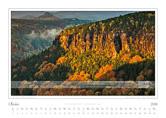 Kalender Traumlandschaft Elbsandsteingebirge 2016, Boehmische Schweiz, Herbst im boehmischen Elbtal, Oktober