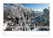 Kalender Traumlandschaft Elbsandstein Saechsische Schweiz 2016 Winter auf dem Lilienstein, Januar
