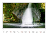 Kalender Traumlandschaft Elbsandsteingebirge 2016, Saechsische Schweiz, Wasserzauber im Gebiet der Steine, August
