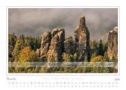Kalender Traumlandschaft Elbsandsteingebirge 2016, Saechsische Schweiz, Am Schrammtor, November