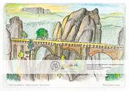 Eines der bekanntesten Motive der Sächsischen Schweiz mit dem Lilienstein im Hintergrund. Vielfältige Gestaltunsmöglichkeiten für unterschiedliche Ansprüche, vom flächigen Ausmalen bis zur Differenzierung der Felsoberflächen und der Bäume.
