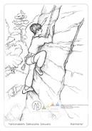 Die Postkarte zum Ausmalen; Postkarte Kletterer. An den Felsen der Sächsisch-Böhmischen Schweiz wird seit ca. 150 Jahren aus sportlichen Motiven geklettert. Hast du bei einem Ausflug Kletterer beobachtet? Oder hast du vielleicht selbst schon einmal das Klettern probiert?