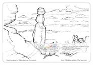 Die Postkarte zum Ausmalen; Postkarte Barbarine. Auf die Tafelberge zu wandern ist ganz schön anstrengend. Bei einer wohlverdienten Rast an der sagenumwobenen Barbarine belohnt die Aussicht, nicht nur auf dem Pfaffenstein. Was die Besucher wohl beobachten? Felsstrukturen, die Wälder, Tiere? Und was gibt es zur Pause als Stärkung? – Vielfältige Gestaltungsmöglichkeiten, von einfach bis anspruchsvoll.
