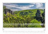 Traumlandschaft Elbsandstein 2017 Saechsische Schweiz, Frühling am Großen Winterberg, Juni